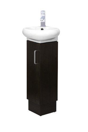 CORNER BATHROOM VANITY SET - MILAN - WENGE