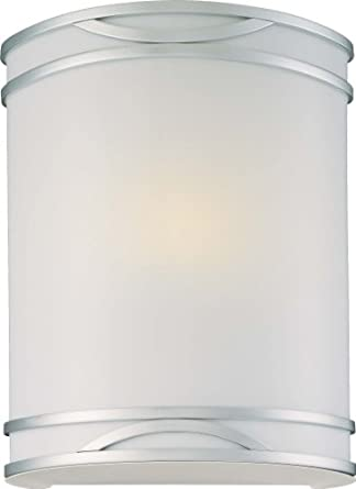 "Minka Lavery ML 371-PL 1 Light 8.75"" Width ADA Flush Mount Wall Sconce, Brushed Nickel"