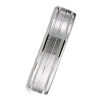 6.0 Millimeters Palladium 950 Wedding Band Ring on Sale, Comfort Fit Style SV49-406PD, Finger Size 7¾