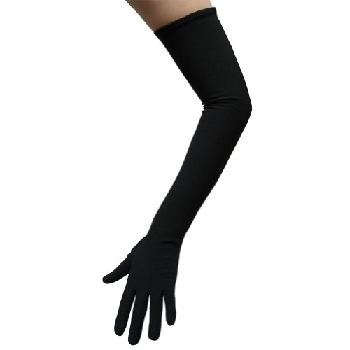 Black Costume Gloves (Opera Length) ~ Halloween Costume Accessories (STC12074)