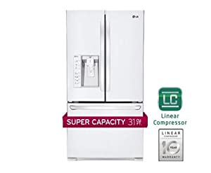 LG LFX31925SW 30.7 Cu. Ft. White French Door Refrigerator