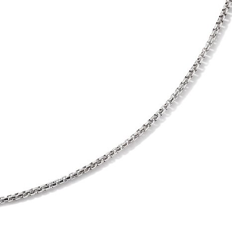 Italian Solid Sterling Silver Box Chain, 1.2 mm Width, Delicate Yet Sturdy, Packaged in an Organza Jewelry Gift Bag