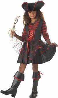 Kid's Captain Girl Pirate Costume (Size:Lg 10-12)