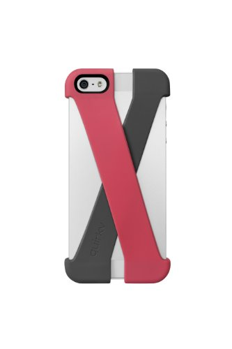 Best Price Quirky PCRS1-PKGY Crossover Cell Phone Case for iPhone 5 - Retail Packaging - Pink/Gray