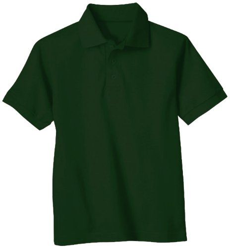 U.S. Polo Assn. School Uniform Hunter Green Short Sleeve Pique Polo Shirt
