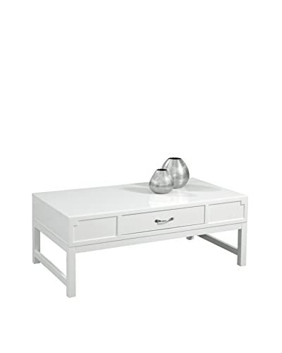 Bassett Mirror Company Zoe Rectangular Cocktail Table, White