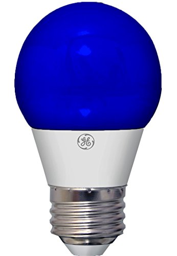 GE Lighting 92125 3-Watt LED 45-Lumen Party Light Bulb with Medium Base, Blue, 1-Pack (Blue Light Bulb compare prices)