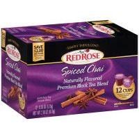 Red Rose Simply Indulgent Spiced Chai Black Single Serve Tea, 2.18 Ounce