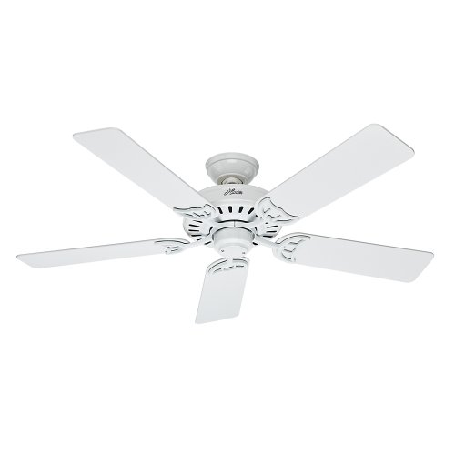 Hunter Fan 53039 Summer Breeze 52-Inch Ceiling Fan with Five Blades, White (Fans Hunter compare prices)