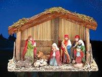 PEARL-Weihnachts-Krippe-10-teilig-mit-handbemalten-Porzellan-Figuren