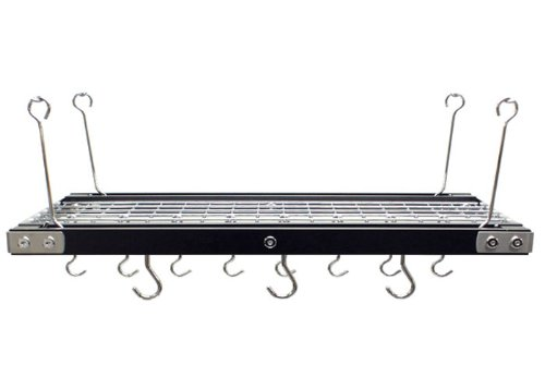 Range Kleen 26-Inch by 13-Inch Rectangle Walnut Pot Rack