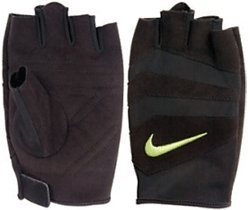 Nike Women's Vent Tech Training Gloves Medium (Black/Volt)