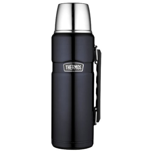 Thermos Sk2010Mbtri4 Beverage Bottle, Hot/Cold, Blue Mirror Stainless Steel, 40-Oz. - Quantity 4 front-619061