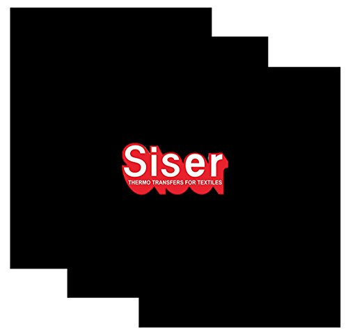 SISER EasyWeed Heat Transfer Vinyl HTV for T-Shirts 12 x 15 Inches 3 Precut Sheets (Black) (Iron On Vinyl Letters For Fabric compare prices)