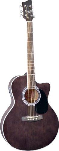 Jay Turser Jta-444-Cet-Tbk Acoustic-Electric Guitar, Transparent Black