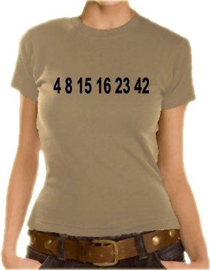 Quelle laterali persa - pagare Girlie T-shirt, XS sabbia