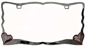 Custom Accessories 92761 Chrome Heart License Plate Frame by Custom Accessories