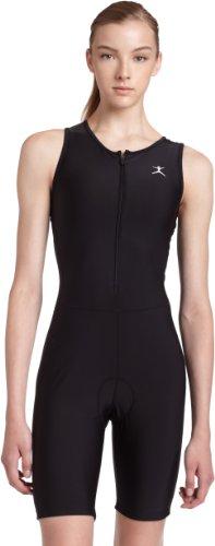 Danskin Women's Triathlon Solid Tri-Suit,Black,P/XS (2-4)