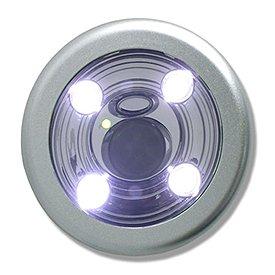 Flipo SEN-RNLITE-SL Motion-Activated Stick Anywhere Light - Silver Round
