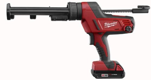 Milwaukee 2641-21CT 18V Cordless M18 Lithium-Ion Caulk Gun Kit with 10 oz. Carriage