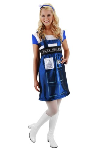 Officially Licensed by BBC Dr. Who Adult Tardis Dress Blue Small to X-Large.