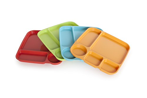 Nordic Ware Party Trays, Assorted Colors, Set of 4 (Melamine Dinner Ware compare prices)