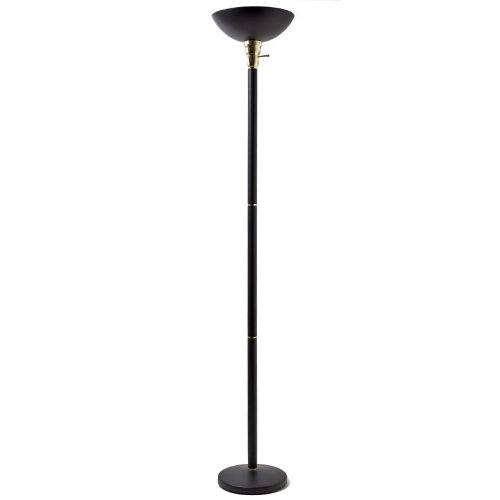 Black Torchiere Floor Lamp Black Finish