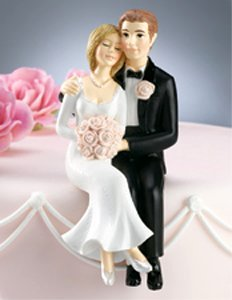 Amazon.com: Wilton Sweet Couple Wedding Cake Topper Figurine: Kitchen