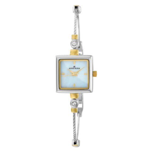 AK Anne Klein Women's 109117MPTT Square Swarovski Crystal Accented Two-Tone