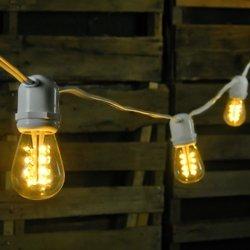 commercial led edison string lights 50 warm. Black Bedroom Furniture Sets. Home Design Ideas
