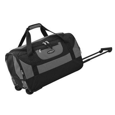 travelers-club-luggage-adventure-20-inch-multi-pocket-sports-rolling-duffel-gray-one-size