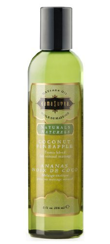 Kamasutra Natural Massage Oil - Coconut Pineapple 8 Oz 236ml