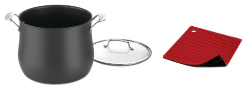 Cuisinart Hard Anodized 12-Quart Stockpot with Cover and Free Silicone Trivet/Pot Holder (Cuisinart Contour Stockpot compare prices)