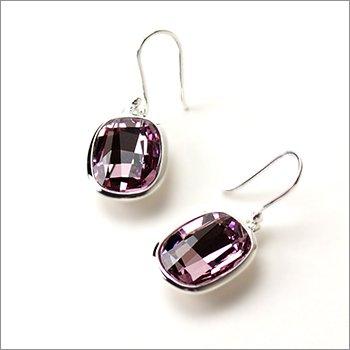 Elements - Swarovski Pink Crystal Drop Earrings