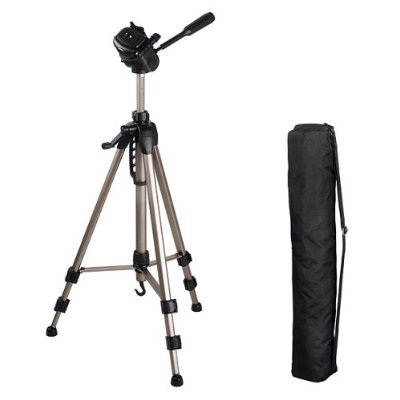 DURAGADGET Full size professional tripod with quick release and bonus pull-tie bag for Canon Ixus 1000HS, Ixus 300HS, Ixus 210, Ixus 200IS, Ixus 130, Ixus 120IS