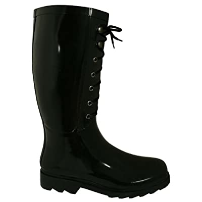 Black Lace Worker Wellies