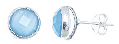 chic-net-ohrstecker-aqua-calcit-rund-8-mm-rand-925er-sterlingsilber-geburstet-facettiert-blau