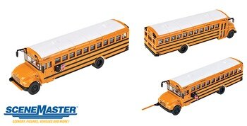 Walthers Accessories - International CE School Bus - Assembled -- (Yellow with White Roof) - HO