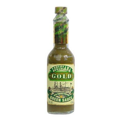 Louisiana Gold Green Sauce with Tobasco Peppers 2oz (pack of 3) (Louisiana Gold Sauce compare prices)