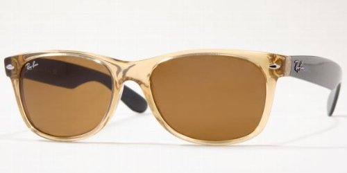 Ray-Ban New Wayfarer RB2132 5518 945L Honey/Crystal Brown Sunglasses