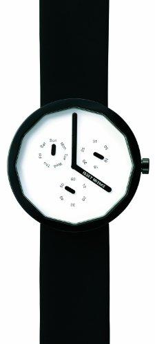 Issey Miyake IM-SILAP008 - Reloj unisex de cuarzo, correa de piel color negro