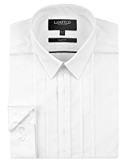 Limited Collection Luxury Slim Fit Pleated Dinner Shirt