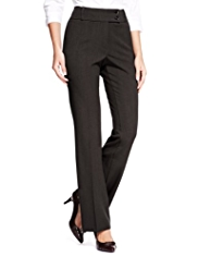 M&S Collection Waist Button Bootleg Trousers