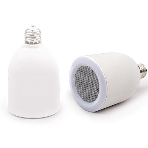 Bluettek Bluetooth Music Audio Speaker Wireless Portable Led Lamp E27 Bt Mini Speaker With Music Playing & Lighting Remote Control Adjustable Brightness/Volume Function For All Bluetooth-Enabled Devices, Iphone 5S, 4S,Ipad Air Retina,Ipad Mini, Samsung Ga