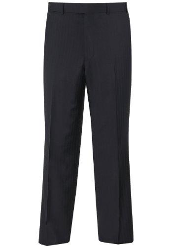 Brook Taverner Dawlish Suit Trouser in Navy Herringbone 46R
