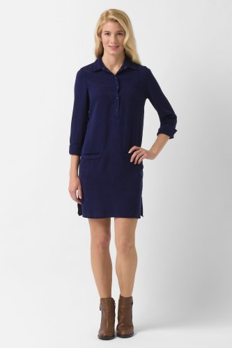 Long Sleeve Tencel Shirt Dress