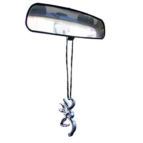 Browning Buckmark Rearview Mirror Hanger (Nickel Color, Made From Heavyweight Zinc Alloy, Woven Nylon Cord, Sold Individually) (Rear Bumper For Ford F150 compare prices)