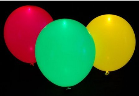 Cozyswan Led Light Up Balloons 15 Mixed Color Party Pack