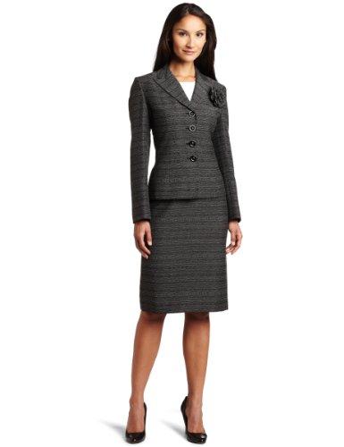 Lesuit Women's Novelty Skirt Suit