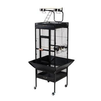 Wrought Iron Select Bird Cage - Black Hammertone